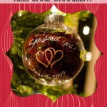 Rose Petal Keepsake Ornament and a Proposal to Remember!