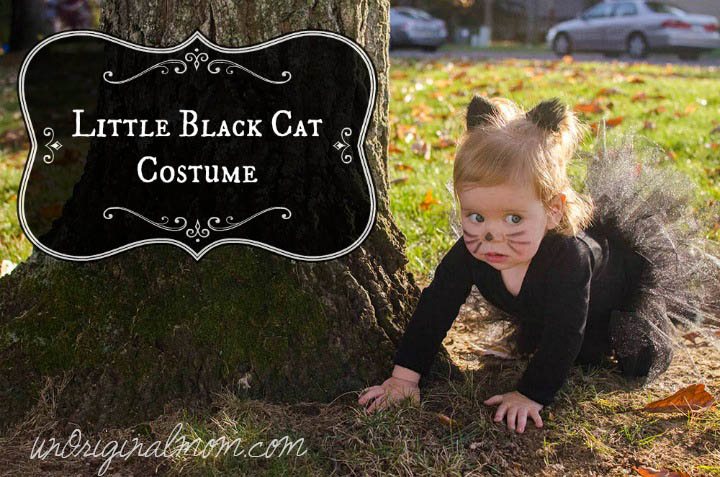 Easy DIY Little Black Cat Costume | unOriginalMom.com & Little Black Cat Costume - unOriginal Mom