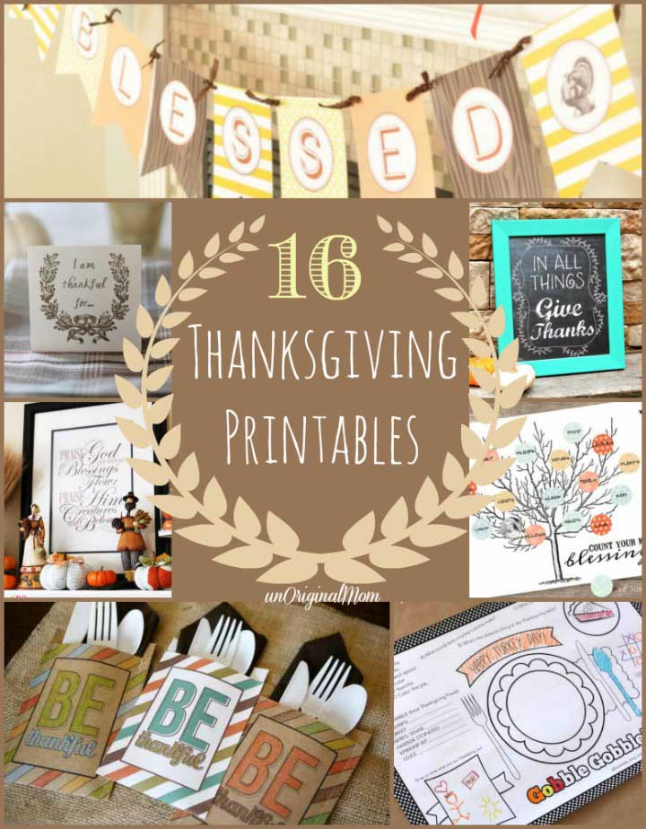 16 Fabulous and Free Thanksgiving Printables
