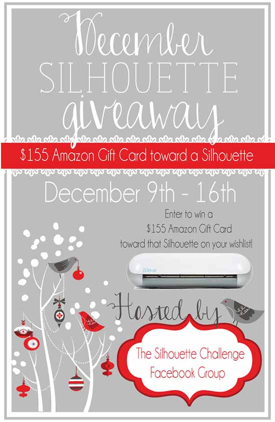 $155 Amazon Gift Card to buy that Silhouette on your wish list!
