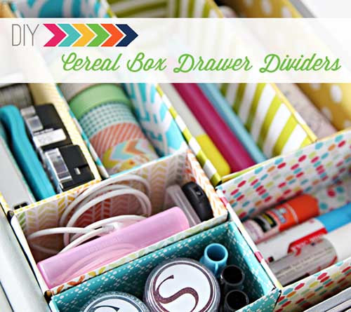 Original Fridays - Cereal Box Drawer Dividers from I Heart Organizing