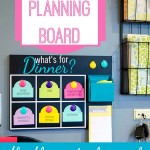 """What's For Dinner?"" Menu Planning Board – with FREE Cut File!"