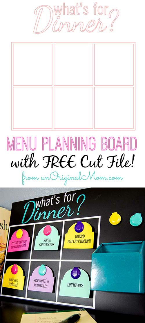 Quot What S For Dinner Quot Menu Planning Board With Free Cut