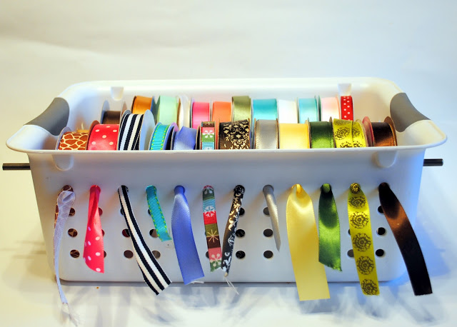 Original Friday Feature: Ribbon Organizer from Spunky Junky