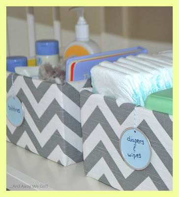 Original Friday Feature: Fabric Covered Boxes from And Away We Go