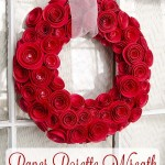 DIY Paper Rosette Wreath (with Free Cut File!)