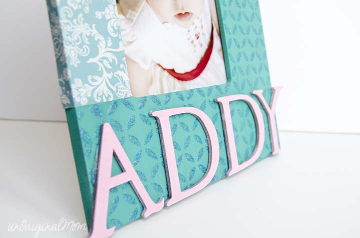 Decorate a plain photo frame using Mod Podge Peel and Stick Stencils