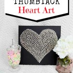 Thumbtack Heart Art