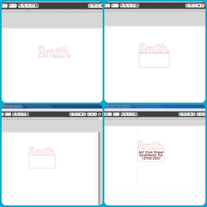 Add a little fun and personality to your return address labels with your Silhouette!
