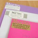 DIY Return Address Labels
