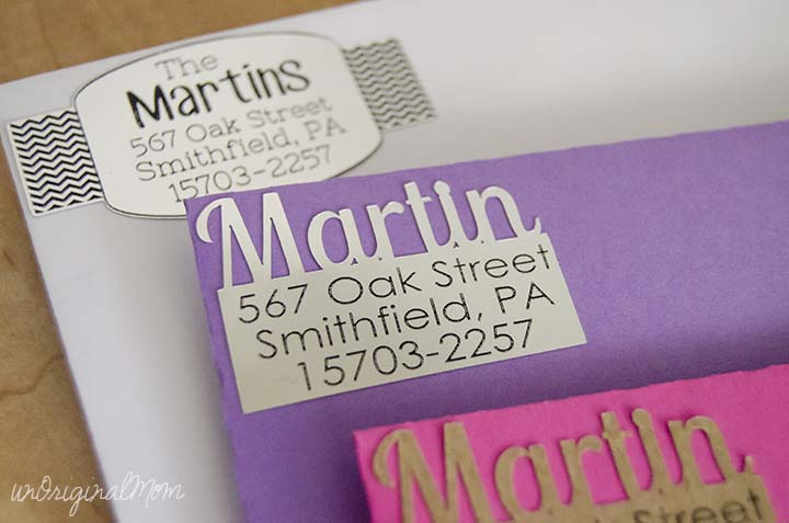 DIY Return Address Labels - unOriginal Mom