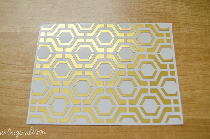 Easy Geometric Cards with Gold Foil - so easy to create with your Silhouette!