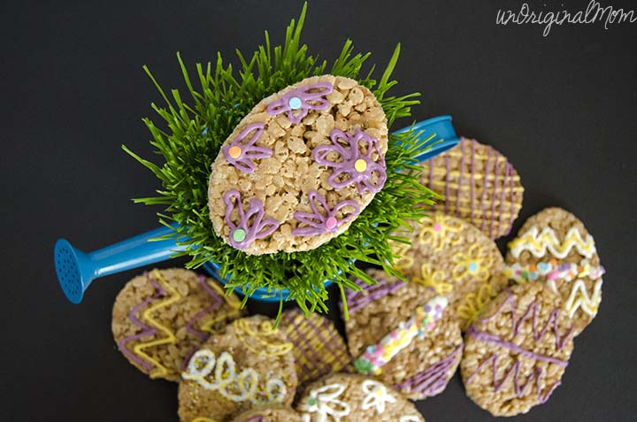 Milky Way Simply Caramel Easter Egg Rice Krispie Treats