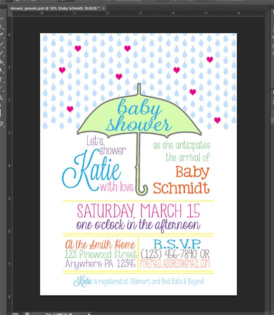 Print And Cut Baby Shower Invitations With Your Silhouette Even When You Don T