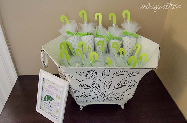 candy umbrella shower favors perfect for a rain or umbrella themed baby shower or bridal