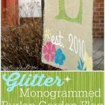 Burlap Garden Flag with Heat Transfer Vinyl
