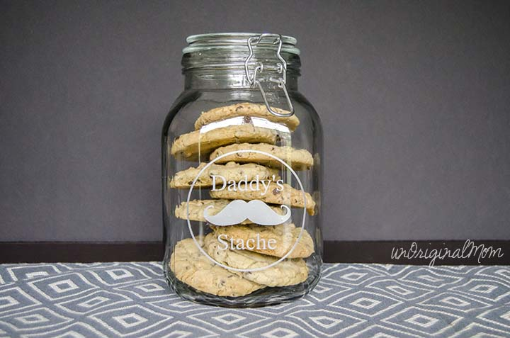 Twix BITES filled chocolate chip cookies - perfect to fill a jar for Dad on Father's Day!