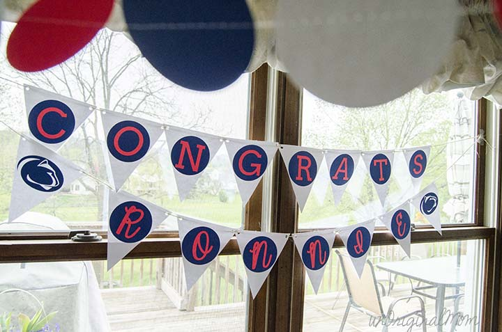 Graduation party banner made with a Silhouette