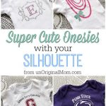 Super Cute Onesies with your Silhouette & A Silhouette Promotion