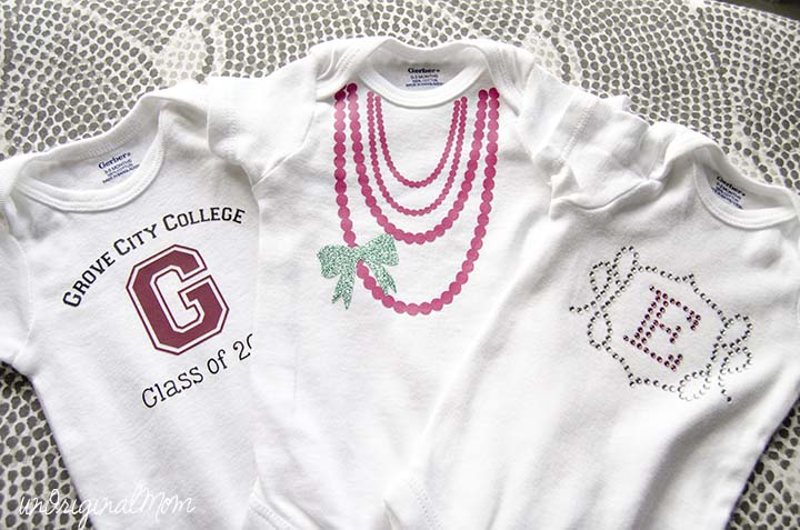 Super cute onesies to make with your Silhouette