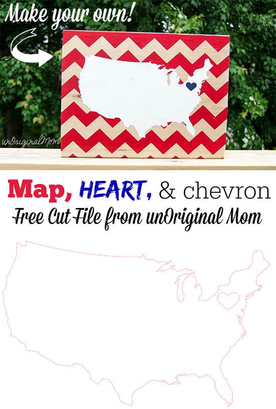 DIY Patriotic Wooden Sign - free cut file!