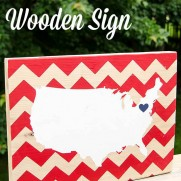 DIY Patriotic Wooden Sign with USA Map