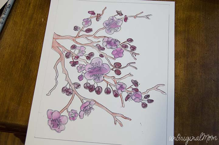 Use your Silhouette to cut out shapes from painted watercolor paper - such neat color and texture!