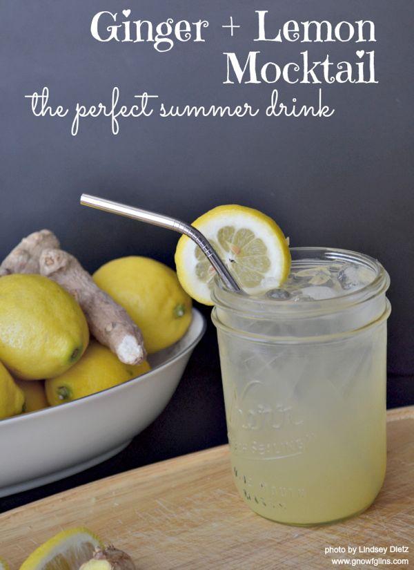 15 Summer Mocktails - Ginger & Lemon Mocktail