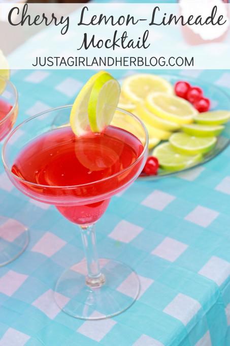 15 Summer Mocktails - Cherry Lemon Limeade