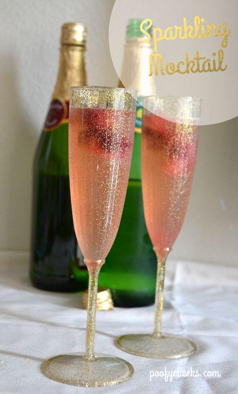 15 Summer Mocktails - Sparkling Raspberry Mocktail
