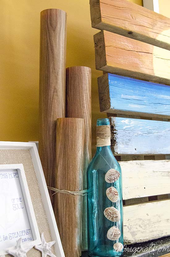 Use pool noodles to make wooden dock pilings!