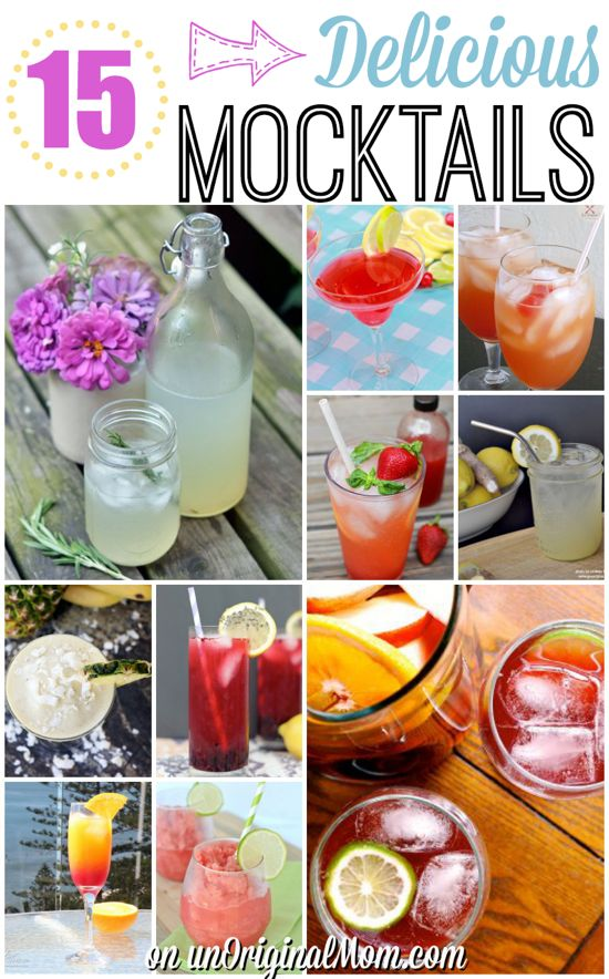 15 delicious mocktails - perfect for pregnant mamas or those who are counting calories!