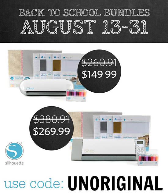Great deals on back-to-school bundles!  The perfect time to get a machine of your own!
