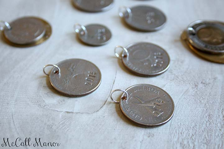 Make unique gifts out of leftover foreign coins from trips abroad!