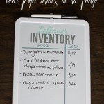 Leftover Inventory White Board