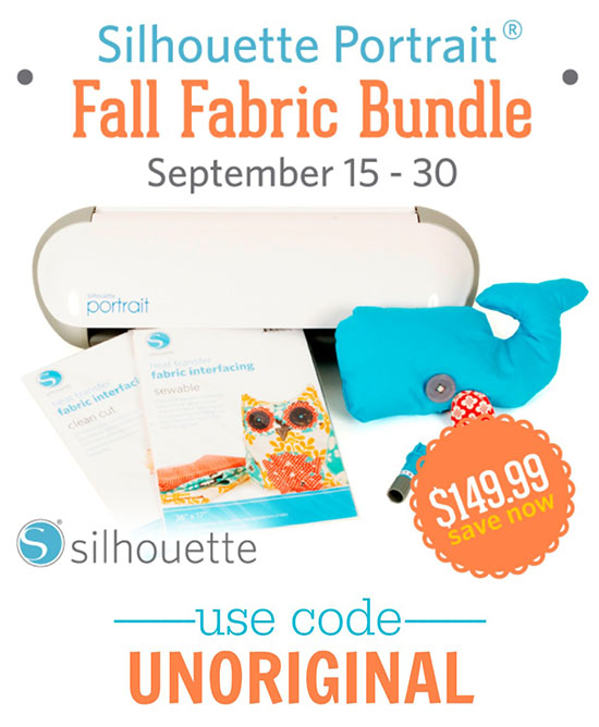 Silhouette Portrait Fall Fabric Bundle for just $149.99 when you use the code UNORIGINAL!