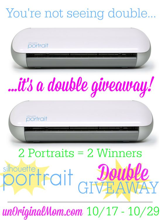Your chance to win has doubled - it's a double Portrait giveaway on unOriginal Mom! Enter 10/17-10/29