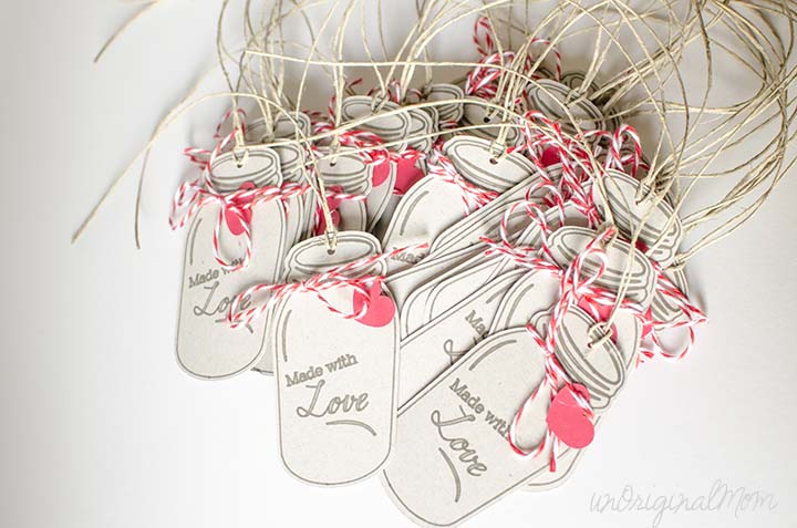 Made With Love Mason Jar Gift Tags