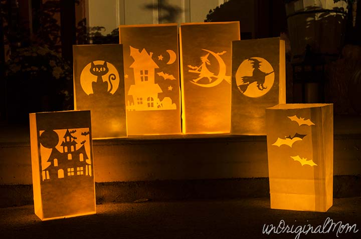 Make Glowing Paper Bag Luminaries With Your Silhouette In Less Than 10 Minutes Great