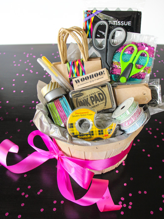 """Gift Giving Supply Kit AND the brand new """"Thinking Outside the Gift Box"""" ebook by Lauren Lanker of The Thinking Closet - all you need for holiday gift giving!"""