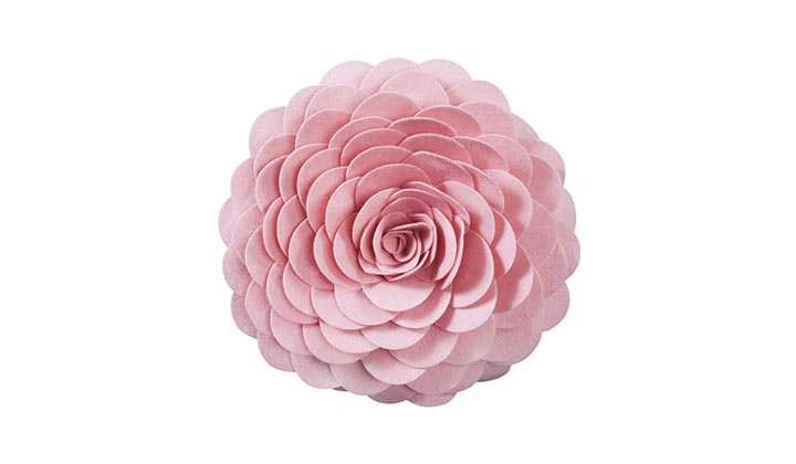 Saro-Flower-Polyester-Pillow