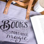 Book Lover's Canvas Tote Bag Gift