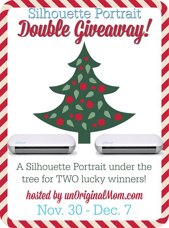 2 Portraits = 2 Winners!  Your chances of winning are twice as good in this double Silhouette Portrait giveaway, on unOriginalMom.com through December 7!