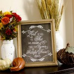 """Grateful Praise"" Thanksgiving Chalkboard Printable"