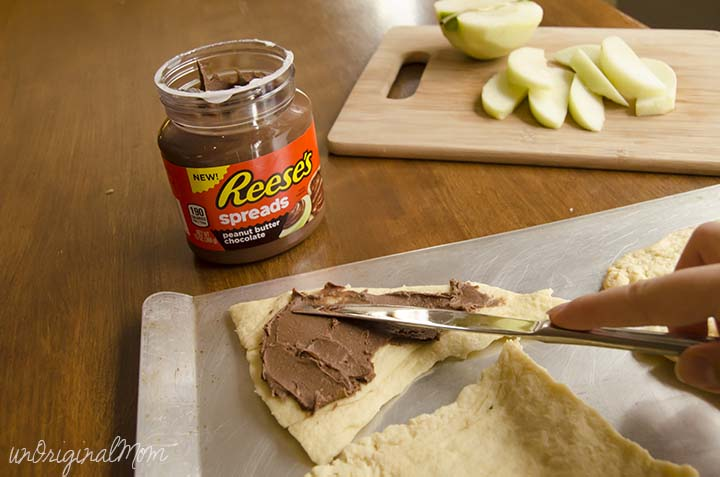 Peanut Butter Apple S'more Crescents using Reese's Peanut Butter Spread - perfect for an anytime snack!