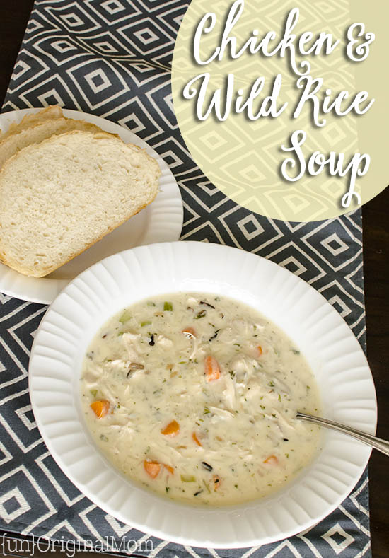 Chicken and Wild Rice Soup made easy with a box of Wild Rice with ...
