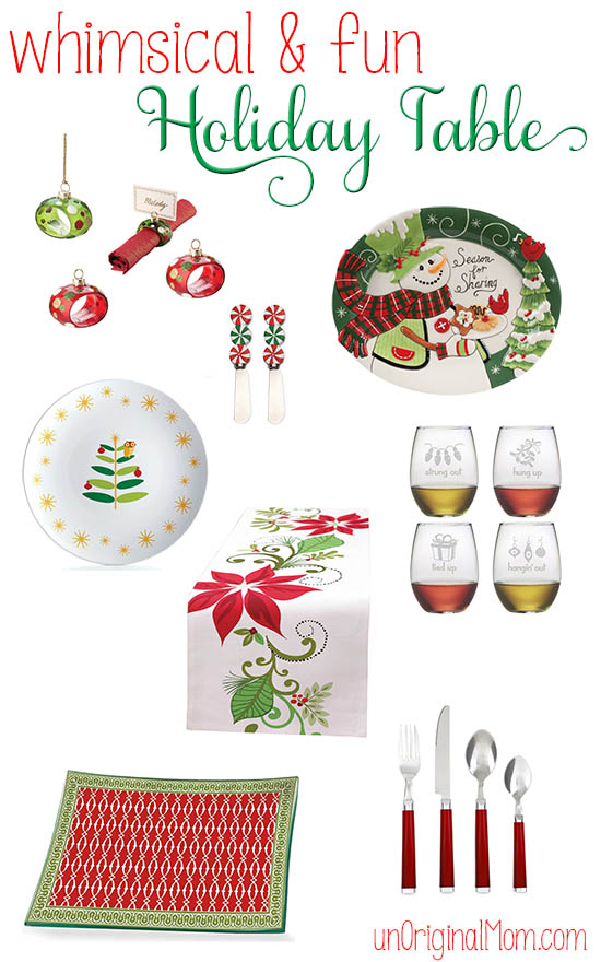 Some super cute holiday table decor - let loose and have fun with your Christmas table decor!