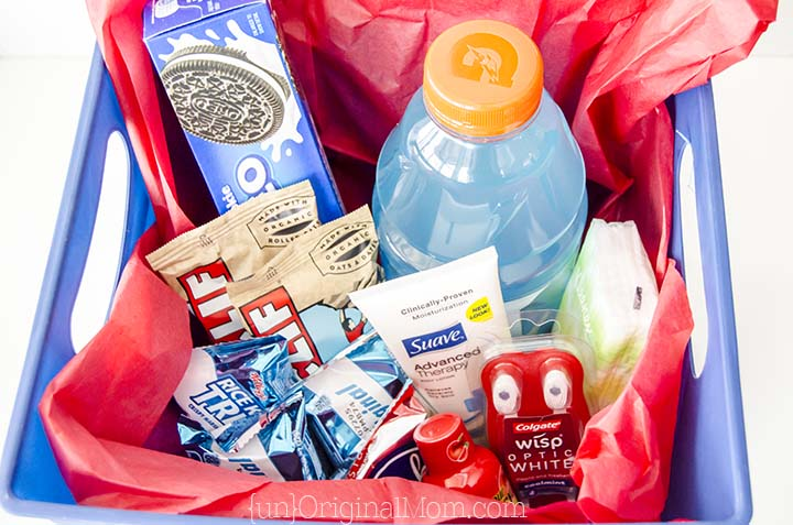 """Put together a small """"hospital survival kit""""  for the daddy-to-be - a great list of things to include in daddy's hospital bag!"""