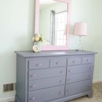 Gray and Pink Dresser Makeover for a Big Girl Room