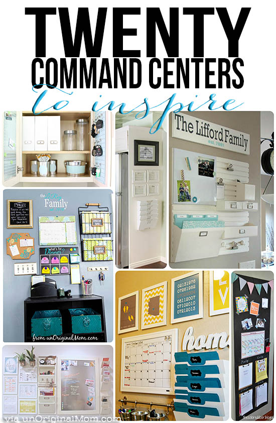 20 Command Center Ideas To Inspire Unoriginal Mom